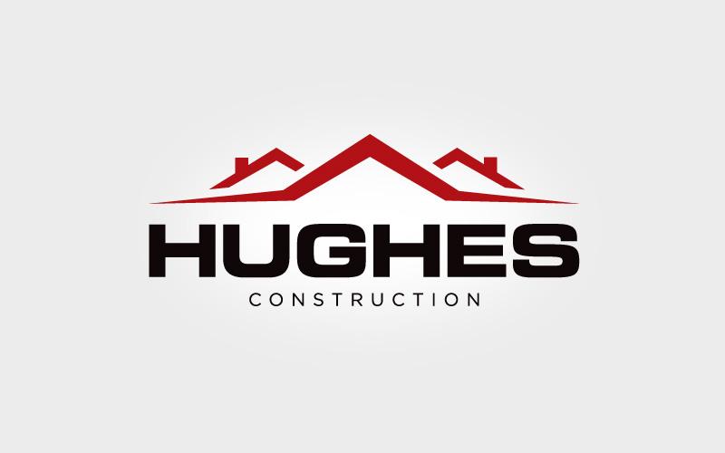 Hughes Construction Logo Design